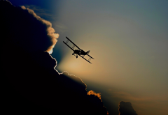 aircraft, flight, aviation, sky, clouds wallpaper