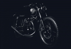 deus ex machina, deus custom motorcycles, motorcycle, bike, custom, black bike wallpaper