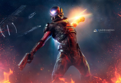 mass effect: andromeda, bioware, video games, gun wallpaper
