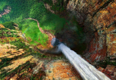 waterfall, rocks, nature, angel falls, salto angel, venezuela wallpaper