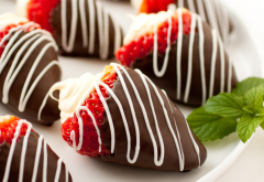 strawberry, chocolate, food, fruits, mascarpone wallpaper