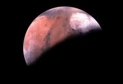 planet, photo, shadow, mars, space wallpaper