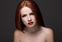 face, portrait, redhead, model, women wallpaper