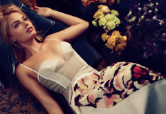 margot robbie, vogue, actress, dress, women, celebrity wallpaper