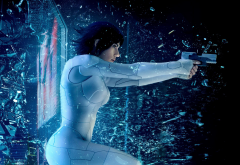 ghost in the shell, gun, movies, scarlett johansson, the major, actress wallpaper
