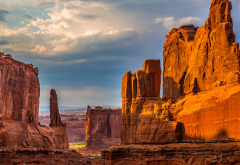 Arches National Park, utah, usa, mountains, cliffs wallpaper