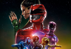 power rangers, movies, dacre montgomery, naomi scott, rj cyler, becky g, ludi lin wallpaper