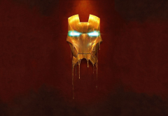 Iron Man, mask, simple, graphics, movies wallpaper