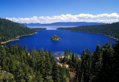 emerald bay state park, nature, mountains, lake, forest wallpaper