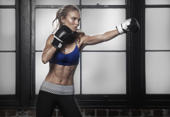 lorna jane, girl, boxing gloves, training, boxing, women, sport wallpaper