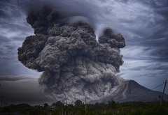 eruption, smoke, ashes, mountains, volcano, nature wallpaper