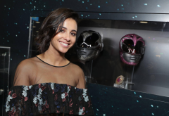 naomi scott, brunette, smiling, actress, women, power rangers, movies, kimberly hart, pink ranger wallpaper