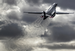 rockwell, b-1 lancer, aircraft, bomber, dark clouds wallpaper