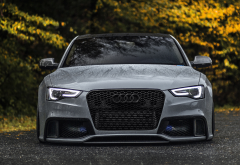 audi rs5, cars, audi, autumn, wet, water drops wallpaper