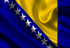 flag, bosnia and herzegovina, flag of bosnia and herzegovina wallpaper