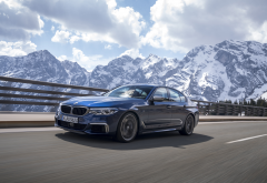 bmw m550i xdrive, bmw g30, bmw, mountains, nature, cars, rossfeld, france, bmw m550i wallpaper