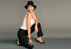 charisma carpenter, hat, celebrity, women, smile, actress wallpaper