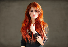 julia zabolotnikova, redhead, women, model wallpaper