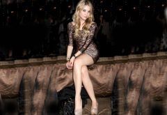 ashley benson, dress, legs, blonde, dress wallpaper