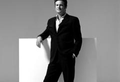 colin firth, man, monohrome, actor, suit wallpaper