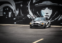 bmw, wall, graffiti, cars wallpaper