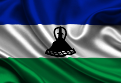 flag, kingdom of lesotho, flag of lesotho wallpaper