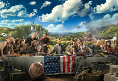 far cry 5, poster, video games, clouds, table, gun wallpaper