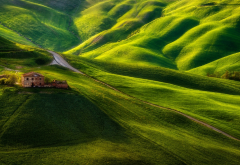 green hill, old farm, natur, hill, italy wallpaper