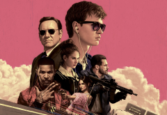 baby driver, kevin spacey, movies, actors, jamie foxx, jon hamm, eiza gonzalez, lily james, ansel elgort wallpaper