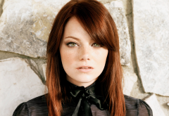emma stone, actress, redhead, �elebrities, face, portrait wallpaper