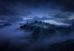 nature, mountains, clouds, alps, dolomites wallpaper
