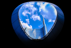 city, unicredit tower, milan, italy, skyscrapers wallpaper