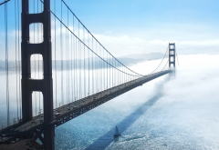 golden gate bridge, bridge, usa, san francisco, clouds, city, nature wallpaper