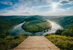mosel river bend, bremm, germany, rhineland-palatinate, hamm, mosel river, nature, river wallpaper