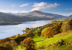 bala lake, lake, gwynedd, wales, great britain, nature, autumn, beautiful wallpaper