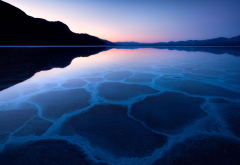 badwater basin, death valley, california, lake, nature, salt lake, sunset wallpaper