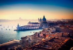 venice, italy, city, canal, water, buildings, city, morning wallpaper