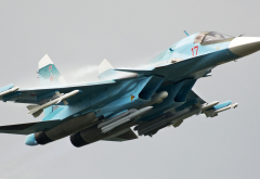 russian air force, sukhoi su-34, su-34, aircraft, aviation wallpaper