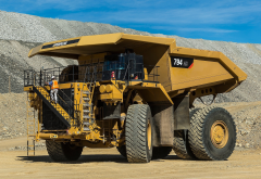 cat 794ac haul truck, caterpillar, mining machinery, dump truck, cars, cat 794ac wallpaper