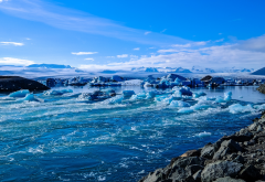 iceland, ice, ocean, shore, nature wallpaper