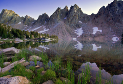 rae lakes, sierra nevada, kings canyon national park, nature, beautiful, mountains, lake, reflection, landscape wallpaper
