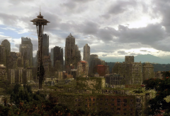 Life After People, city, fallout, Seattle, USA wallpaper