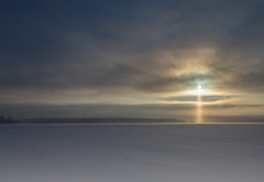lapland, sun, sky, snow, winter, clouds, nature wallpaper