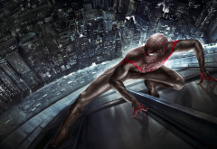 superheroes, Spider-Man, The Amazing Spider-Man, movies, skyscrapers wallpaper