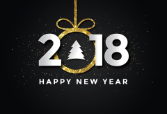 2018, holidays, happy new year, new year, christmas wallpaper