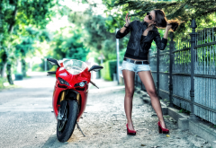 ducati, motorcycle, women, girl, bike wallpaper