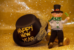 toy, hat, holidays, happy new year, new year, champagne wallpaper