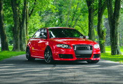 audi rs4, cars, audi, red car wallpaper