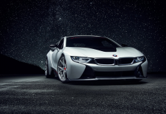 bmw i8, bmw, cars, night, stars wallpaper