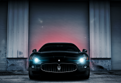 maserati, sports car, cars, black car, maserati granturismo wallpaper
